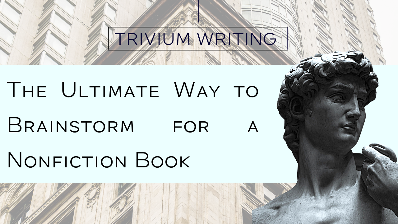 How to brainstorm for a book